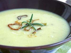 supa crema de pastarnac si praz