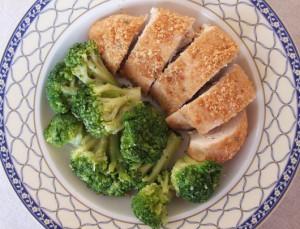 Pui În Crustă Cu Broccoli