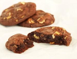 cookies ciocolata şi alune sectiune