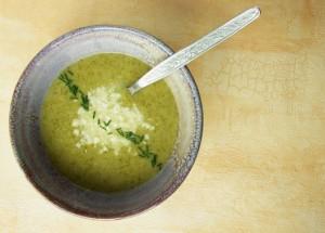Cremă De Broccoli Şi Parmezan